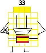 Numberblock 33 the 11x3 Footballer