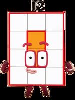 Numberblocks Vector - Twelve (Rectangle)