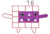 Numberblocks 16