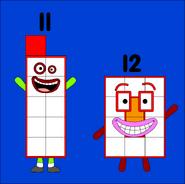 Numberblocks 11 and 12