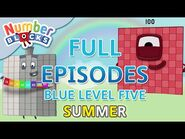 -SummerLearning Numberblocks - Blue Level Five - Full Episodes 1-3 - Learn to Count -WithMe