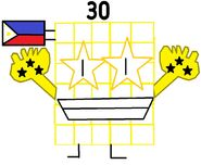 Numberblock 30 the Philippine Starblock