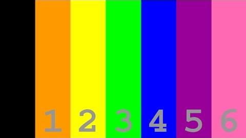Numbers from to 1,000,000 with colors