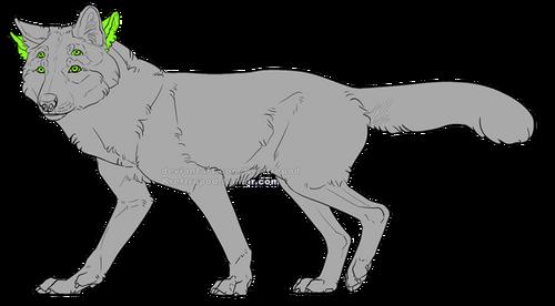 En hellhound med ett extra par ögon och ett extra par öron, totalt 4 av varje.