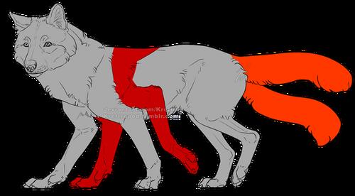En hellhound med två par framben, och två svansar.