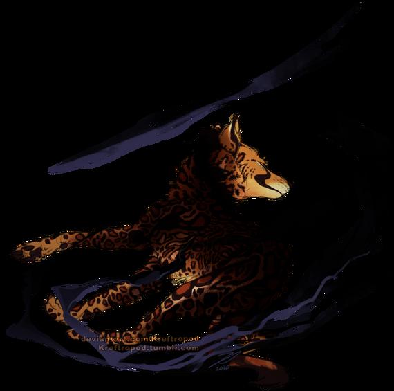 En bild av Umbra sedd snett bakifrån. Umbra ser ut att bromsa och vara på väg att byta riktning i hög hastighet. Han ser över axeln mot kameran med ett fräckt leende. Slingor av mörker ringlar i luften runt honom.