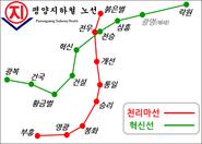 평양지하철노선도