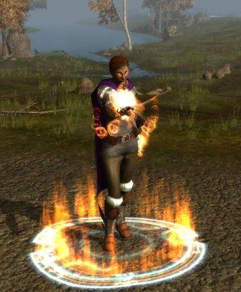 hellfire blast and hellfire shield active