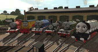 For Example: These engines have stayed at Tidmouth Sheds!