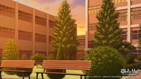 Dogi Maji Memorium courtyard sunset