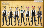 Main characters' height comparison bunny showtime