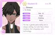 Simeon Student Card