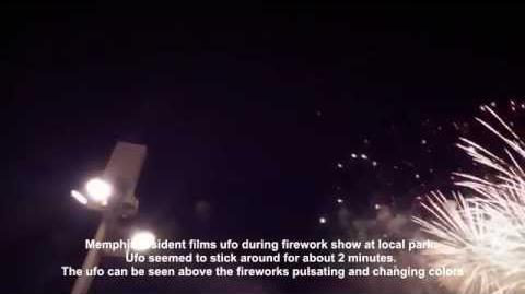 UFO Over Memphis, july 4, 2014