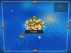 Остров Тикарель на карте мира.