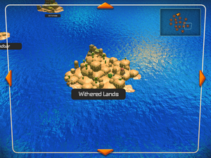 Withered Lands on the World Map.