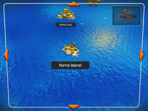 The Home Island on the World Map.