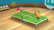 Vegimals playing table-tennis