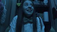 Oona in closet
