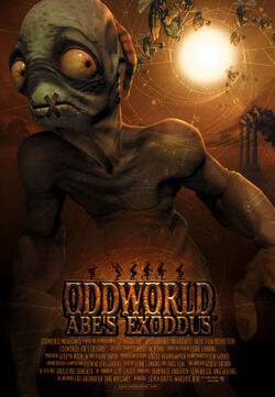 The promotional poster for Abe's Exoddus: The Movie