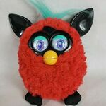 2012-Electronic-Red-Furby-doll-Black-Cherry-black