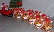 Santa and his reindeers
