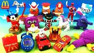 McDonald's 40 Years Happy Meal Toys Full Set 17 Retro Throwback Kids Collection 2019 Europe Asia USA