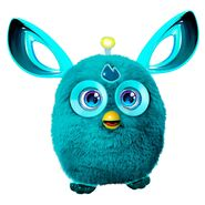A teal Furby Connect