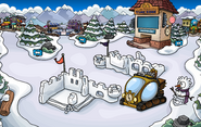 Prehistoric Party Snow Forts