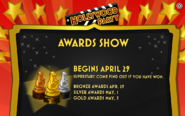 Hollywood Party Awards Show Notice
