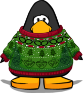 Aunt Arctic Sweater on a Player Card