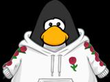 White Flower Hoodie