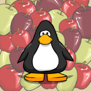 Apples Background from a Player Card