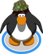 Brown Striped Fedora in-game