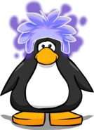 Ghost Puffle Cap on a Player Card