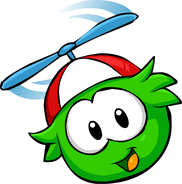 Green PuffleFlying2