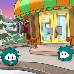 Teal Puffle Background