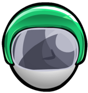 Green Bobsled Helmet old icon