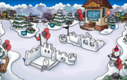 2nd Anniversary Party Snow Forts
