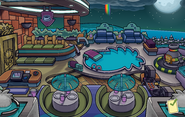 Halloween Party 2014 Puffle Hotel Roof