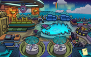 Holiday Party 2013 Puffle Hotel Roof