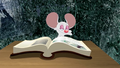 Mouse read a book