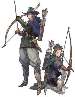 The Archer's class artwork for Tactics Ogre: Let Us Cling Together (PSP)