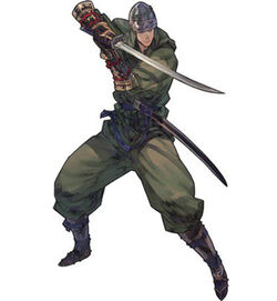 Class artwork of the Ninja from Tactics Ogre: Let Us Cling Together (PSP)