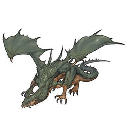 The Earth Dragon's artwork in Tactics Ogre: Let Us Cling Together (PSP)
