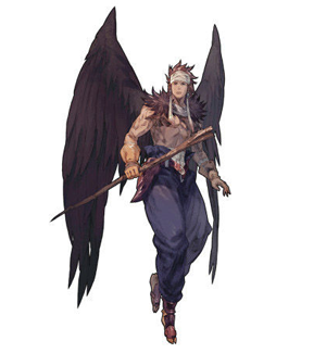 Canopus Wolph, a famous warrior of the Winged Folk.