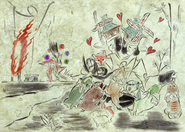 Yatsufusa et guerriers