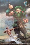 Poseidon and Percy vs Polybotes
