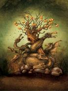 Ladon Guarding Golden Apples
