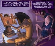 Thoth writing Book of Thoth GN
