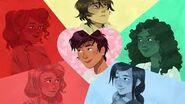 Percy, Annabeth, Nico, Calypso, Reyna, Hazel Valentines Day